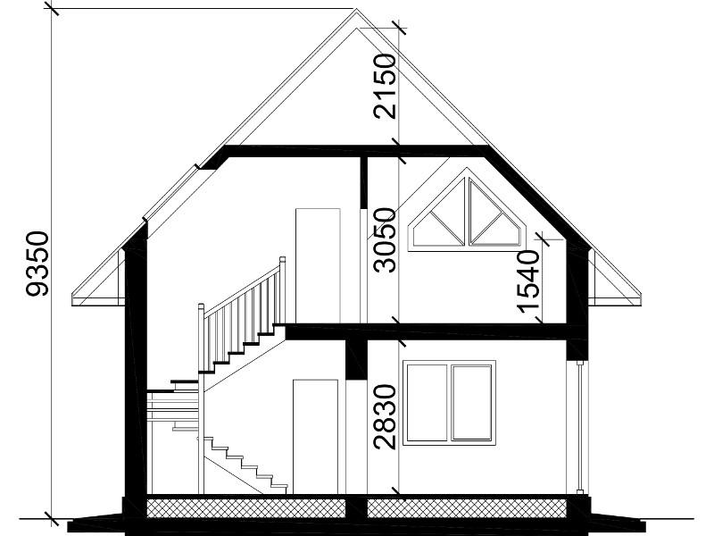 ширина дома