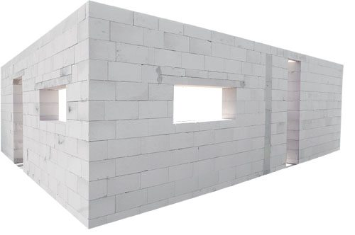 дом из пеноблоков коробка