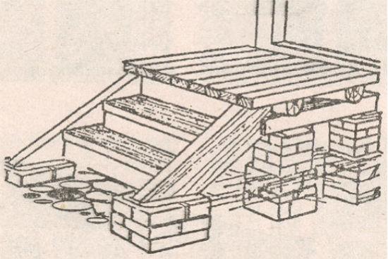 деревянное крыльцо своими руками поэтапно